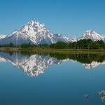Reflection of Mt. Moran at Oxbow Bend, WY.